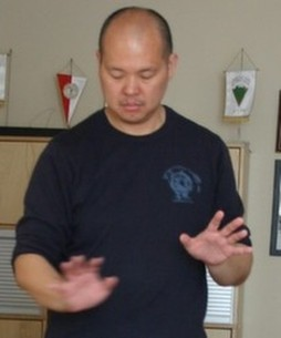Wayne Wia-Ling doing a spirit release